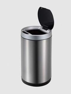 round stainless steel motion sensor trash can
